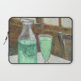 Drinking Absinthe Aperitifs in a Paris Cafe with Vincent still life portrait by Vincent van Gogh Laptop Sleeve