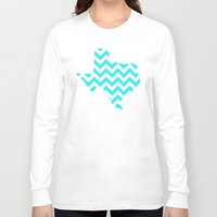 texas Long Sleeve T-shirts featuring TEXAS by N A T