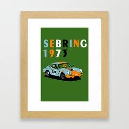 1973 Porsche Carrera RSR At Sebring 12 Hours Framed Art Print