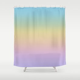 Pastel Rainbow Ombre Gradient Shower Curtain