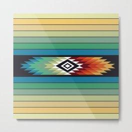 American Native Pattern No. 139 Metal Print