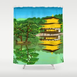 The Golden Temple Shower Curtain