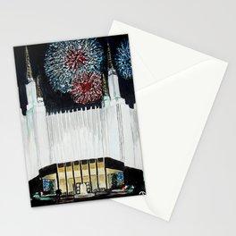 Washington DC LDS Temple Fireworks Stationery Cards
