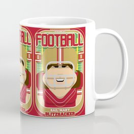 American Football Red and Gold - Hail-Mary Blitzsacker - June version Coffee Mug