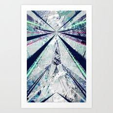 GEO BURST Art Print