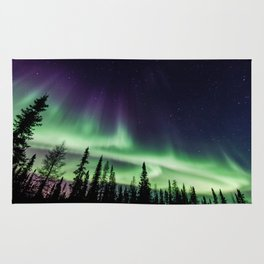 Aurora during geomagnetic storm in Yellowknife, Canada Rug