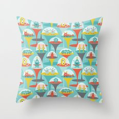 Alien Incubators Throw Pillow