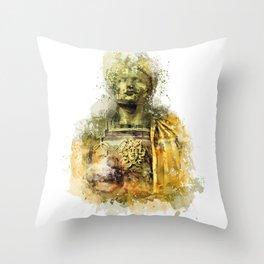 Ave Caesar, Ave Moi Throw Pillow