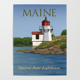 Squirrel Point Lighthouse Maine Poster
