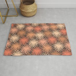 Anemone Pattern in Blush and Cocoa Rug