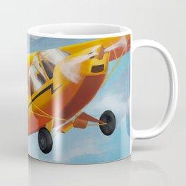 Yellow Plane, Blue Sky Coffee Mug