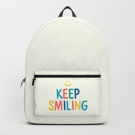 Keep Smiling - Colorful Happiness Quote Backpack