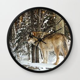 Canis lupus Wall Clock