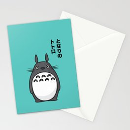 Totoro Pop Art - Blue Version Stationery Cards