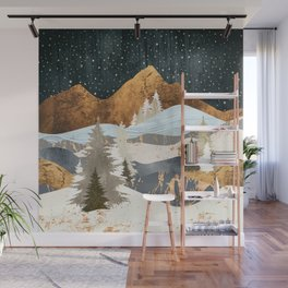 Winter Stars Wall Mural