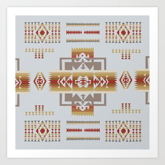 American Native Pattern No. 11 Art Print