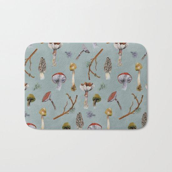 Mushroom Forest Party Bath Mat