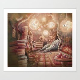 The Witch's Lair Art Print