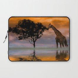 Giraffe at Sunset Laptop Sleeve