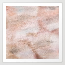 Brown watercolor neutral color pattern Art Print