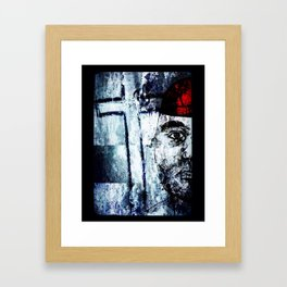 Self-portrait Fighting Depression Framed Art Print