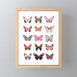 Pink Butterflies Framed Mini Art Print