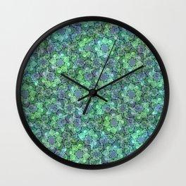 Lush Succulent Garden Wall Clock