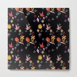 Dark Floral Garden Metal Print