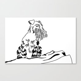 Schnauzer Tribal Canvas Print