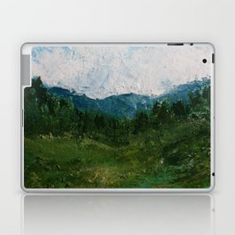A Forest Under Blue Skies Impasto Painting Laptop & iPad Skin