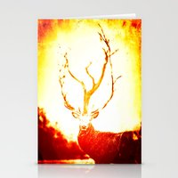 stag Stationery Cards featuring STAG by Chrisb Marquez