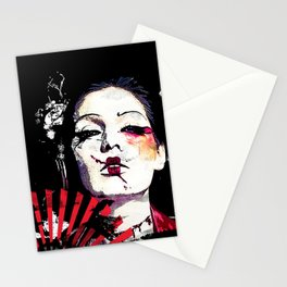 Japanese Creepy Geisha Stationery Cards