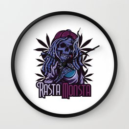 A Unique Detailed Zombie Tee For Yourself? Here's An Awesome T-shirt For You Rasta Monsta Design Wall Clock