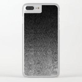 Silver & Black Glitter Gradient Clear iPhone Case
