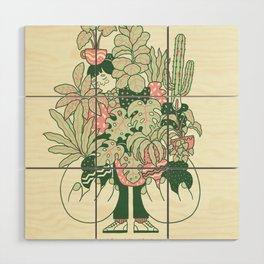 Plants Club (girl) Wood Wall Art