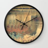 lonely Wall Clocks featuring Lonely by Rose Etiennette
