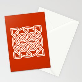 Celtic Sailor's Knot, Mandarin Orange and White Stationery Cards