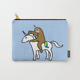 Slothicorn Riding Unicorn Carry-All Pouch