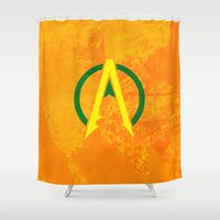 aquaman Shower Curtains featuring Aquaman by Some_Designs