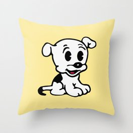 Pudgy, Mrs Boop Puppy companion, Design for Wall Art, Prints, Posters, Tshirts, Men, Women, Kids Throw Pillow
