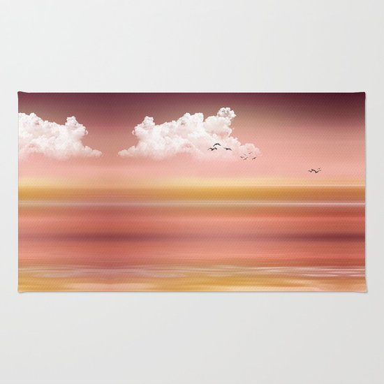 FROM DUSK TO DAWN - a golden sunset Rug