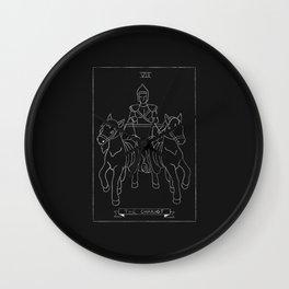 The Chariot Tarot Card Wall Clock