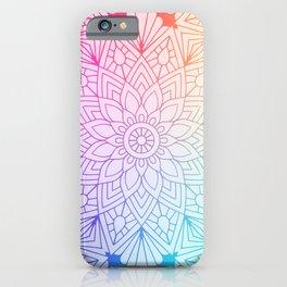 Rainbow Mandala iPhone Case