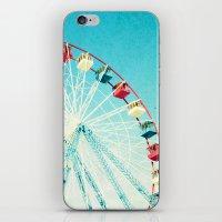 ferris wheel iPhone & iPod Skins featuring Ferris Wheel by Mina Teslaru
