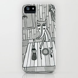 Fox in a diner iPhone Case