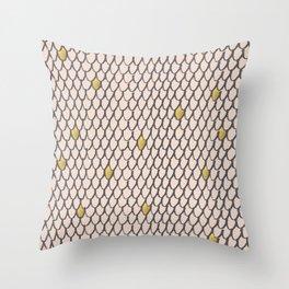 Baesic Golden Mermaid Scales Throw Pillow