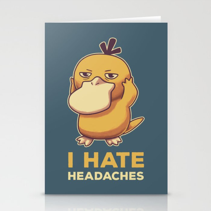 I Hate Headaches Stationery Cards