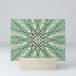 Green Abstract Geometric Star Art - c13524.10 Mini Art Print