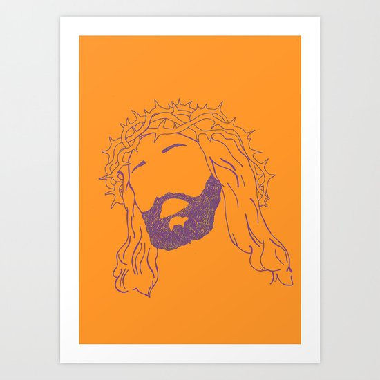 Holy Jesus  Art Print