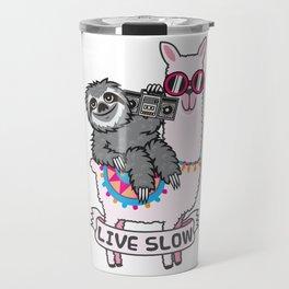 Sloth and Llama Travel Mug